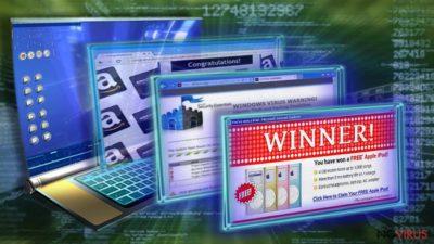 Adware programs cause fake ads