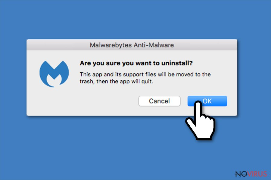 Uninstall Malwarebytes confirmation