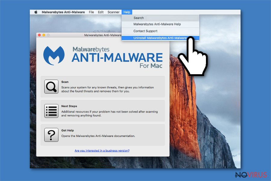 Uninstall Malwarebytes from Mac