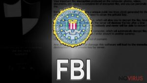 FBI gives a valuable advice for the ransomware victims