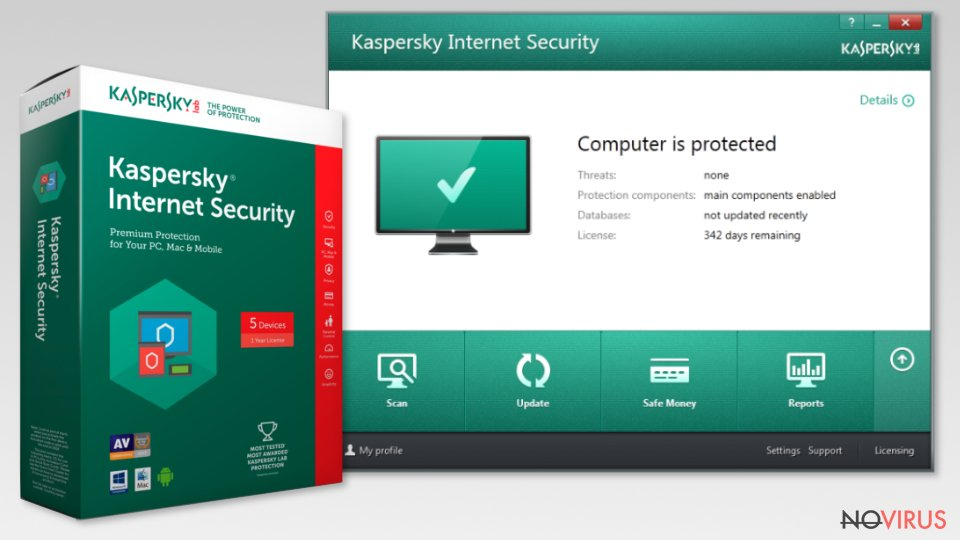 Kaspersky internet security tool