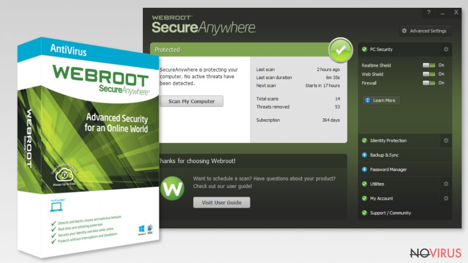 Webroot antivirus program
