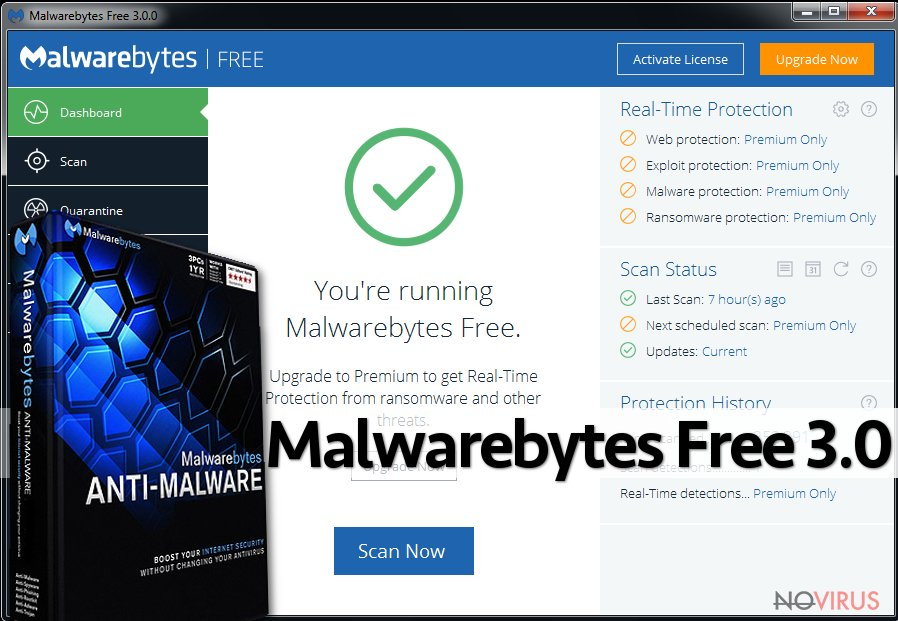 The image of Malwarebytes Free 3.0