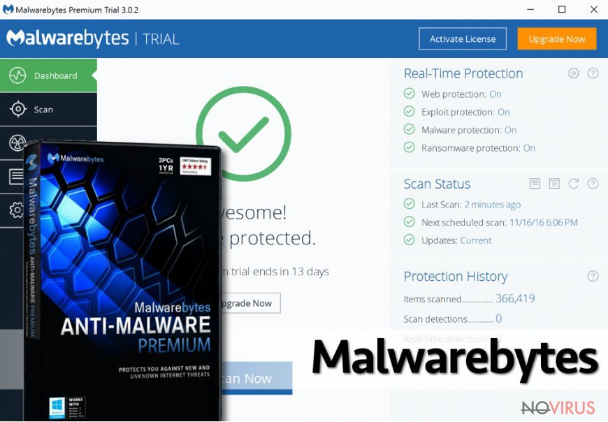 The new version of Malwarebytes Anti-Malware software