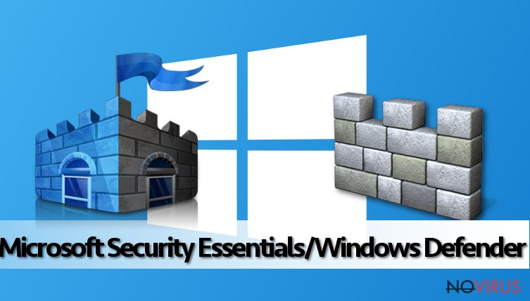 The image of Microsoft Security Essentials/Windows Defender