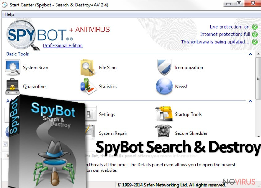 The image of SpyBot Search and Destroy