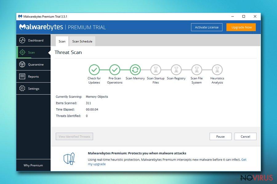 Scan yor device with Malwarebytes