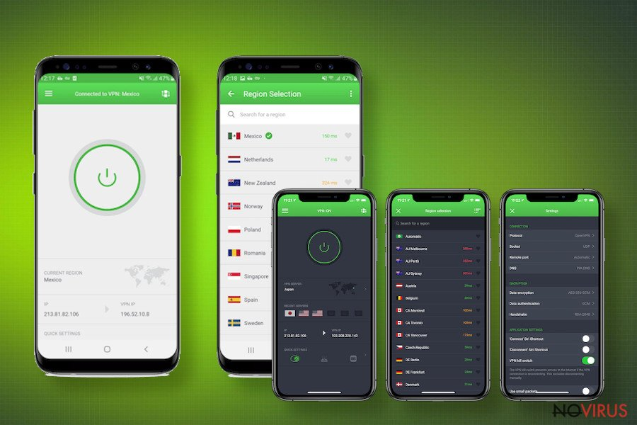 VPN functions and features