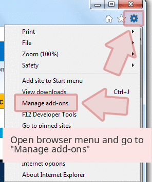 Open browser menu and go to 'Manage add-ons'