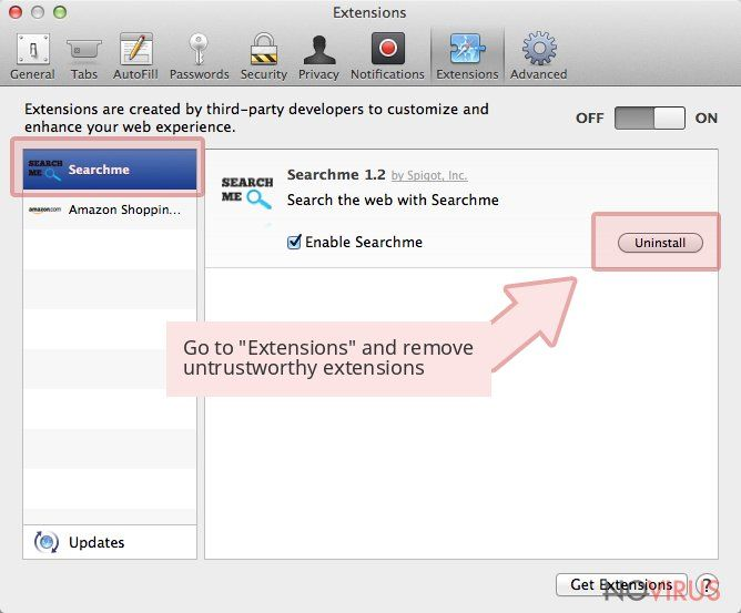 Go to 'Extensions' and remove untrustworthy extensions