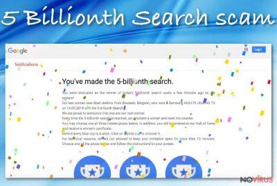 Google 5 Billionth Search scam