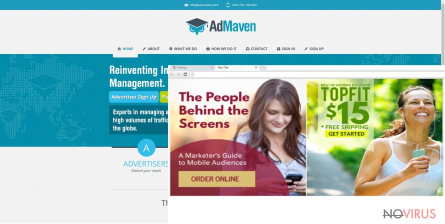 Admaven screenshot
