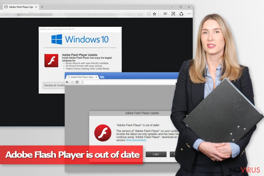 Adobe Flash Player is out of date scam