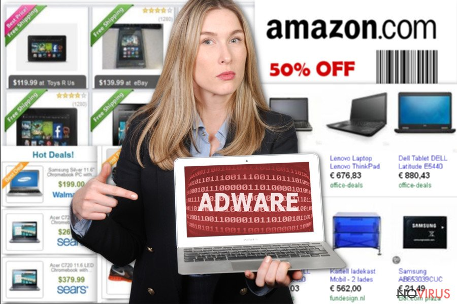 The image displaying Ads by NewTab