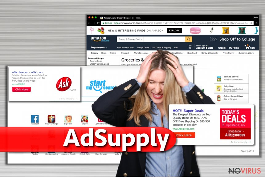 Ads by Adsupply screenshot