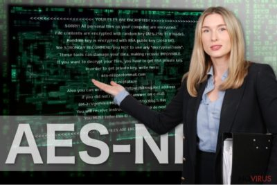 The image of AES-NI ransomware virus