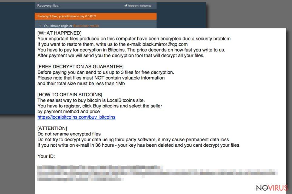 BTCWare Aleta ransom note