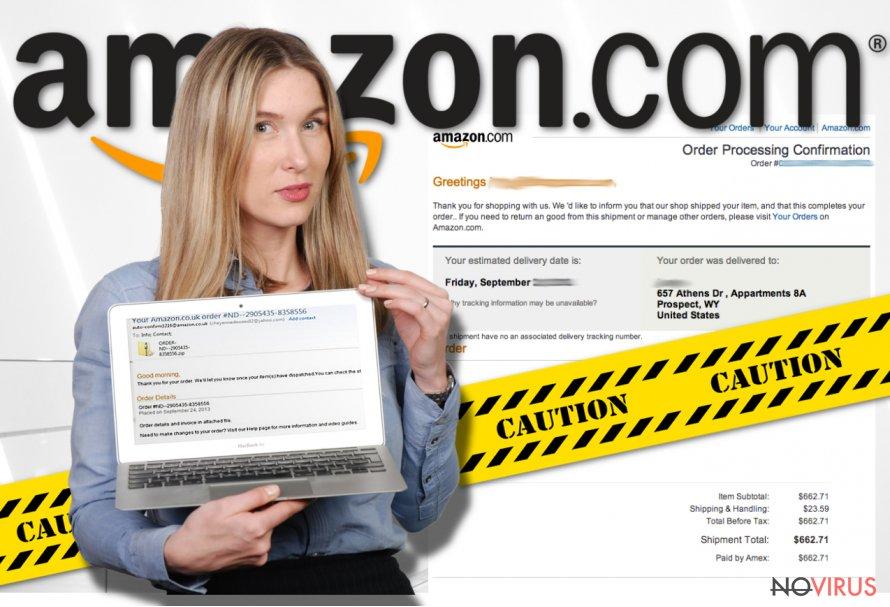 The screenshot of Amazon virus