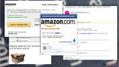 Samples of Amazon browser malware