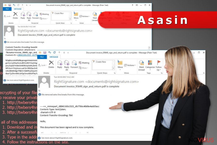 Asasin virus spreads via deceptive emails