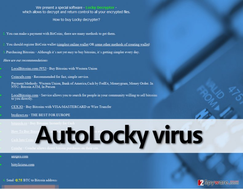 AutoLocky malware demands money