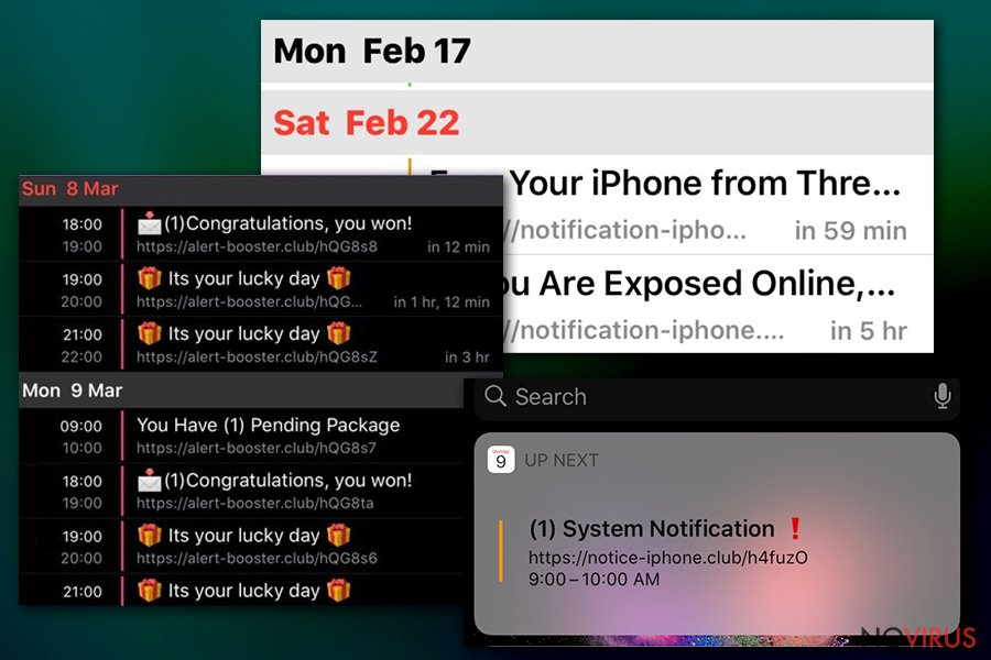 Calendar virus links
