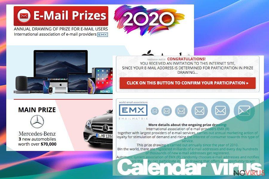 Calendar virus ads