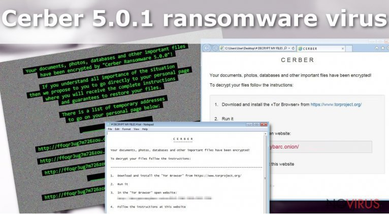 Cerber 5.0.1 virus is another ransomware virus