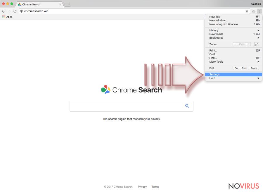ChromeSearch screenshot