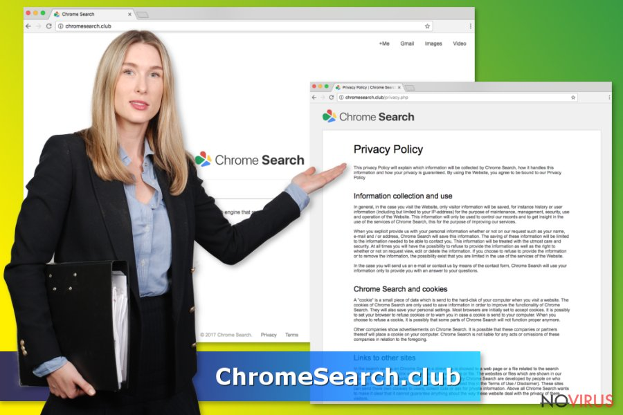 ChromeSearch.club virus screenshot