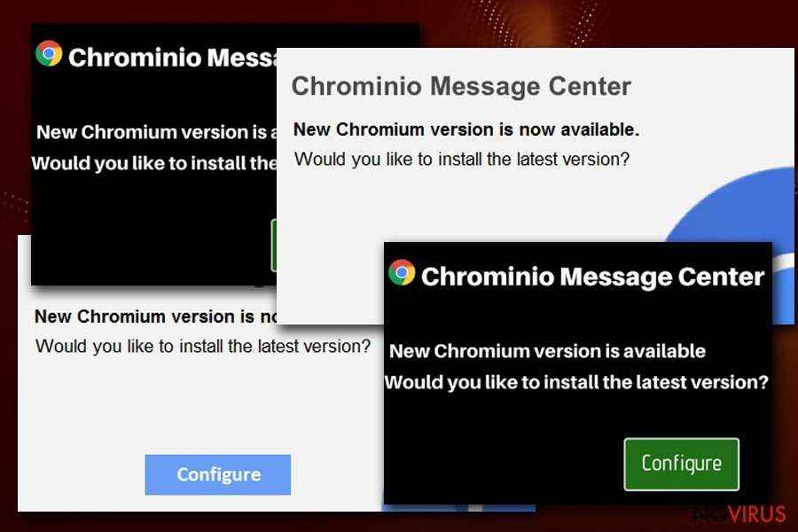 Chrominio Message Center pop-up