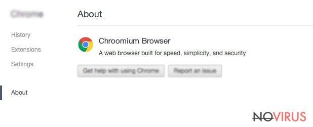 Chroomium Browser screenshot