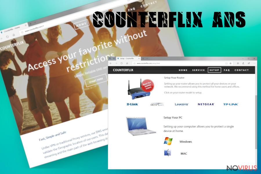Counterflix adware screenshot