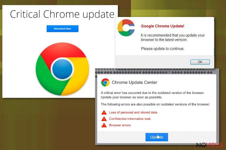 Critical Chrome Update scam