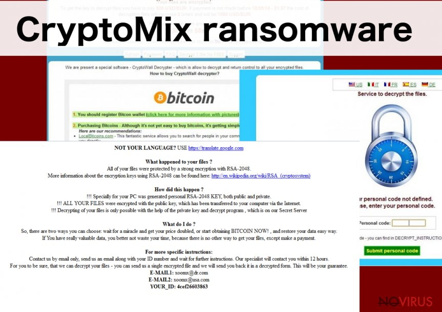 The image illustrating CryptoMix malware