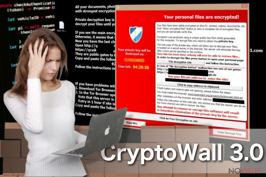 CryptoWall 3.0 virus screenshot