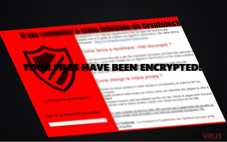 The picture of CryptoLocker 5.1 virus