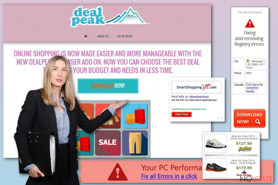 DealPeak pop-ups