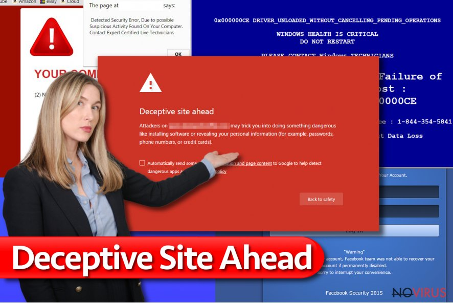 """Deceptive site ahead"" warning"