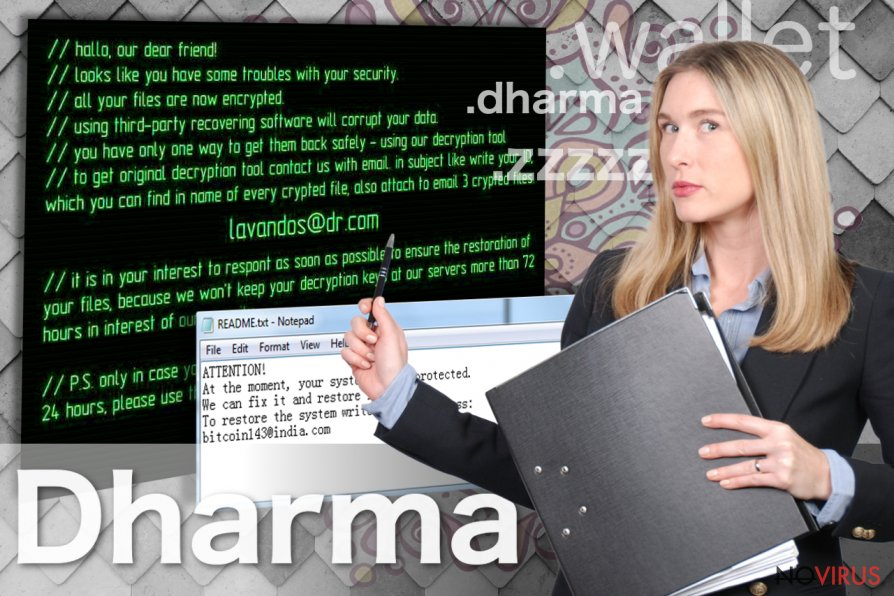 Dharma ransomware screenshot
