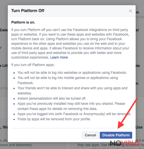 Changing Facebook notifications