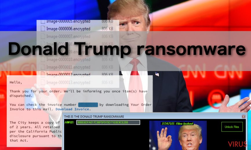 Donald Trump virus may decrypt various files
