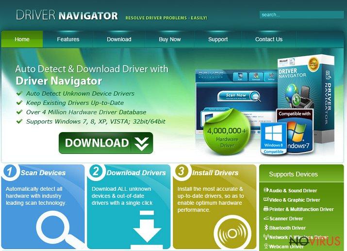 Driver Navigator screenshot