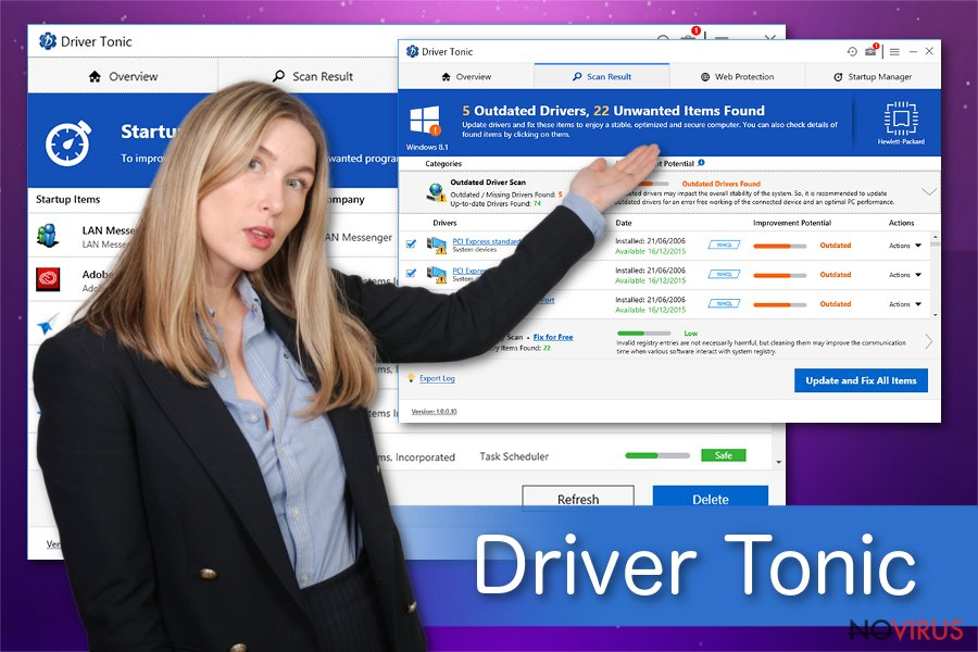 Driver Tonic software