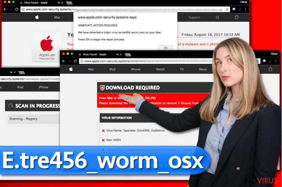 E.tre456_worm_osx scam screenshot