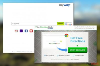 The image displaying Easy Directions Finder Toolbar