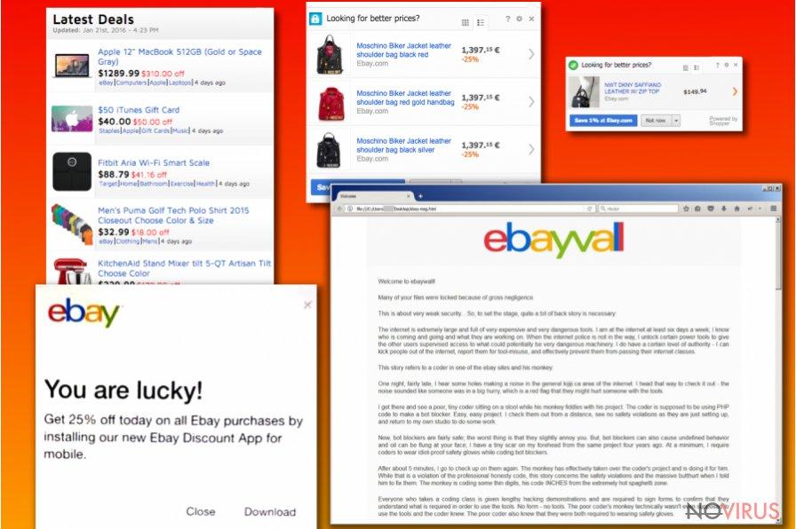 eBay virus examples