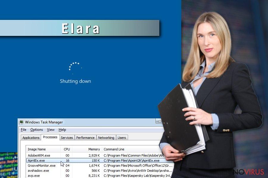 Example of Elara app