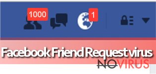 The example of Facebook Friend Request virus