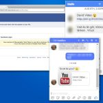 Facebook virus screenshot